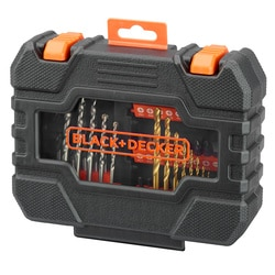 Black and Decker - Conjunto de perfurao e parafusagem de 50 peas Easy Grip - A7232