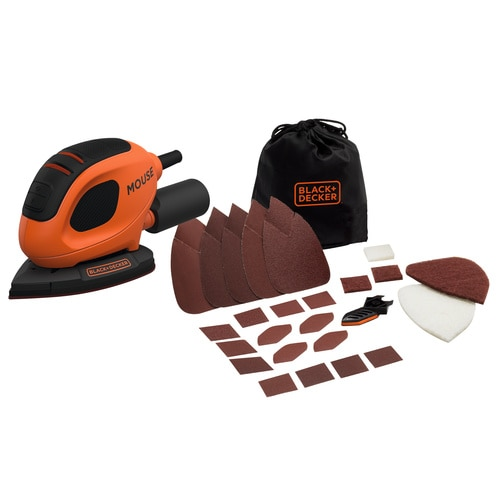 Black and Decker - Lixadora Mouse 55W com 15 acessrios y bolsa - BEW230BC