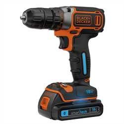Black And Decker - Berbequim Aparafusador 18V com bateria Smart Tech  carregador 400mA y maletn - BDCDC18KST