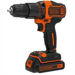 Black and Decker - Berbequim percutor 18V 15Ah Ltio - BDCHD18K