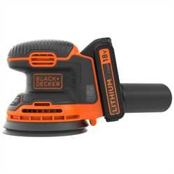 Black and Decker - Lixadora Rotorbital 18V 15Ah Ltio - BDCROS18