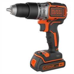 Black And Decker - Berbequim Percutor Brushless 18V 15Ah com 2 baterias e mala - BL188KB
