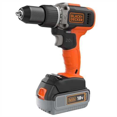 Black and Decker - Berbequim com Percusso 18V 2 Velocidades com 1 bateria 40Ah Litio e 1 bateria 20Ah Litio - BCD003MEM2K