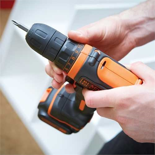 Black and Decker - Berbequim aparafusador 108V - BDCDD12