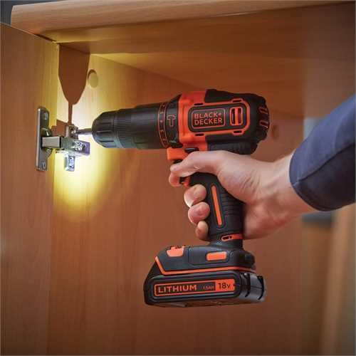 Black and Decker - Berbequim percutor 18V 15Ah Ltio - BDCHD18KB