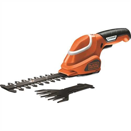 Black and Decker - Kit com tesoura cortarelvas  cortasebes 7V - GSL700