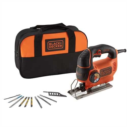 Black and Decker - Serra de recortes pendular 620W Autoselect  com 10 lminas e bolsa de transporte - KS901SESA2